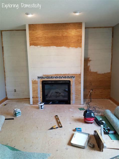 shiplap fireplace diy faux shiplap fireplace wall exploring domesticity