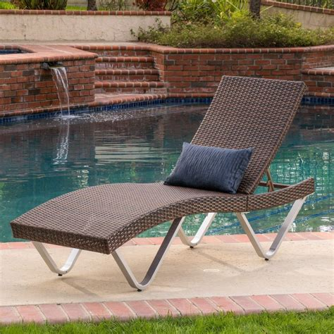 wicker chaise lounge outdoor furniture outdoor patio furniture single adjustable brown pe wicker