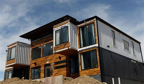 container store deutschland builds denver house from nine steel shipping