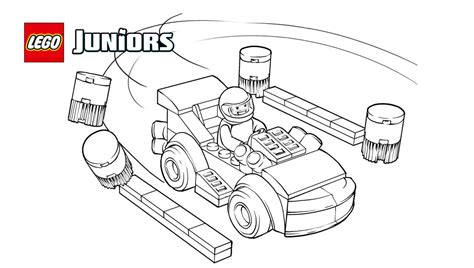 lego junior coloring pages lego 174 juniors racing car driver coloring page coloring