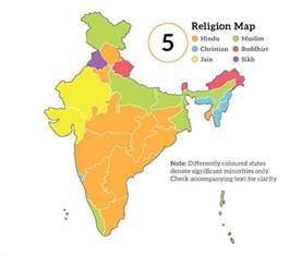 India Religion Map by India By Religion
