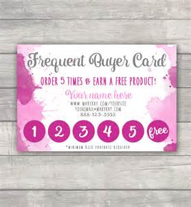 frequent buyer punch card marykay lularoe younique r amp f