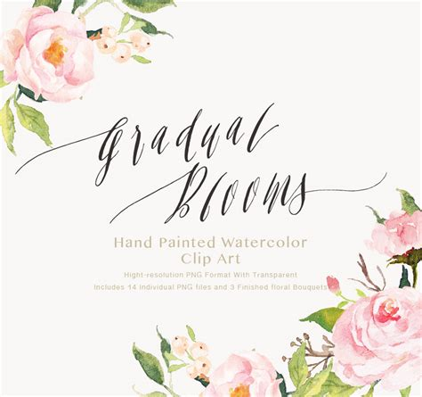 Vintage China Patterns by Watercolor Flower Clip Art Gradual Blooms On Behance