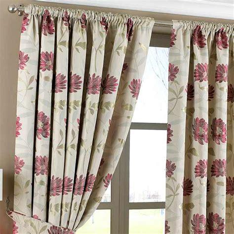 magenta curtains drapes paoletti framlington leaf stem jacquard pencil pleat lined