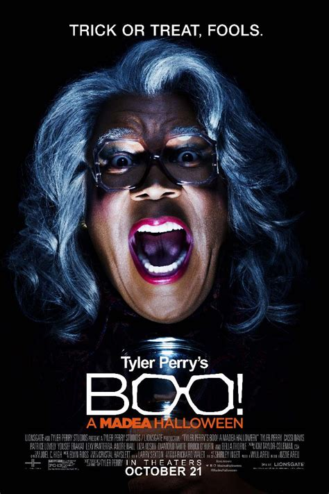 movies out in theaters tyler perrys boo 2 a madea halloween by tyler perry boo a madea halloween poster first look exclusive from eur