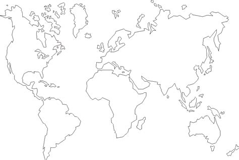 free printable world maps outline world map
