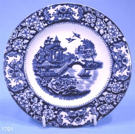 old blue pattern plates olde alton ware chinese pagoda pattern vintage tea plate