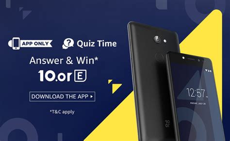 amazon quiz time answers added amazon quiz time win 10 or e mobile