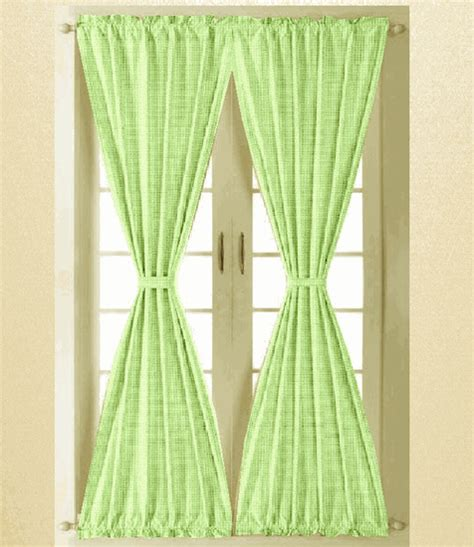 green and white gingham curtains lime green and white gingham check french door curtain panels