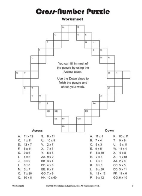 printable multiplication games ks2 we ve all done crossword puzzles this worksheet is a