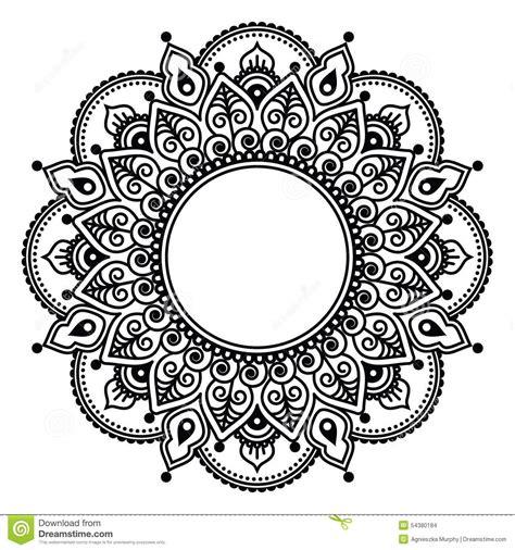 indian style henna tattoo mehndi indian henna floral pattern stock