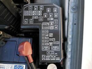 mitsubishi magna fuse box  engine bay  tj ltr petrol auto   ebay