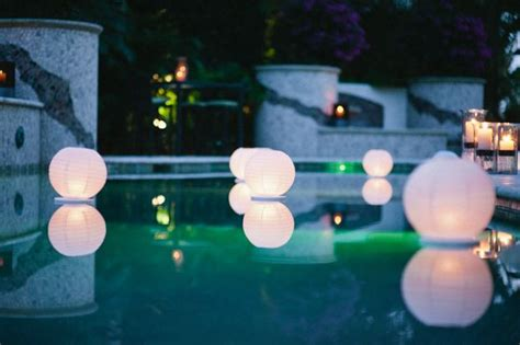 floating pool lights for wedding paper lanterns in pool paper lanterns are in event