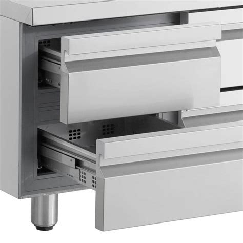 xxlselect cool workbench stainless steel 6 drawers
