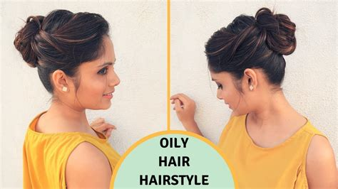 oily hair hairstyles youtube quick easy hairstyle for oily hair oily hair hairstyle