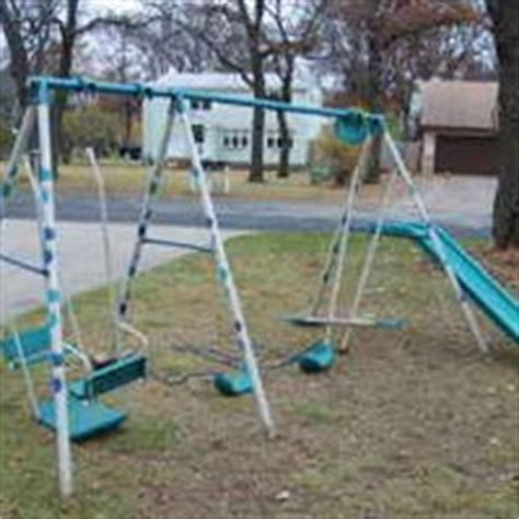 Hedstrom Swing Set by Hedstrom Outdoor Metal Swing Set Pictures Images Photos