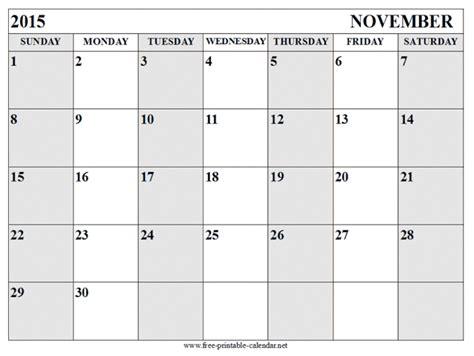 printable calendar november 2015 landscape free printable calendar templates 2016 part 4