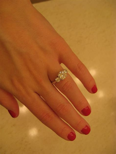 Show me your 3 stone rings with carats of stones!   Weddingbee