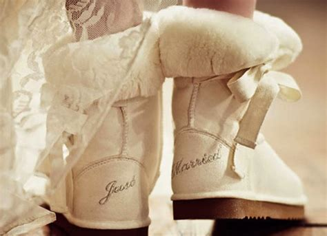 Wedding Uggs by Ivory Ugg Boots With Just Married Embroidery Onewed