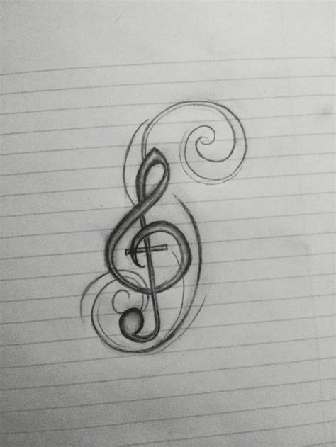 treble clef cross tattoo 1000 ideas about treble clef on
