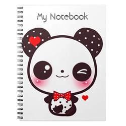 kawaii panda notebooks zazzle