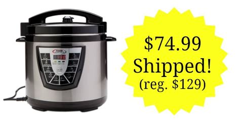 the complete power pressure cooker power pressure cooker xl 8 quart 74 99 shipped lowest