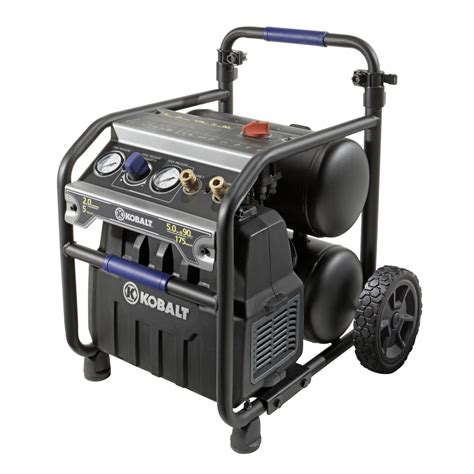 Kobalt 0320541 2 HP 5 gal 175 PSI Twin Stack Electric Air