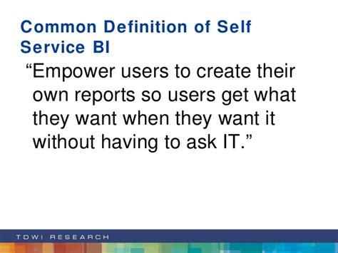 meaning of selves going mad a framework for delivering pervasive bi solutions