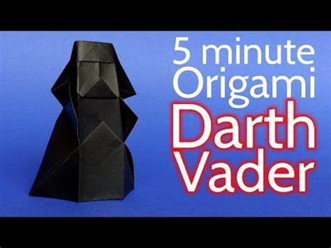 How To Make Origami Darth Vader - the world s catalog of ideas