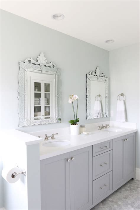 gray painted bathroom cabinets sw sea salt design ideas