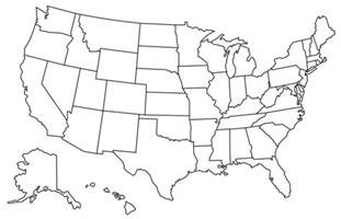 map of states visited us state map usa map with color