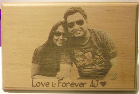 personalized engravings personalized engraved wooden photo plaque giftsmate