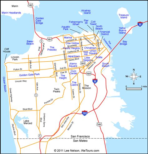 california map of san francisco san francisco map alcatraz