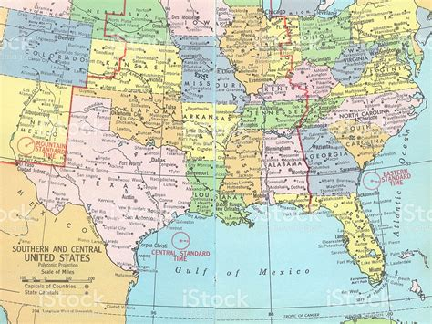 maps of us southern and central united states map stock photo istock