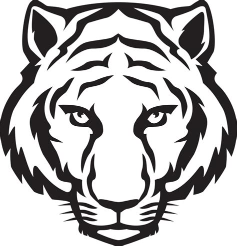 drawing clipart easy tiger drawing tiger clip black and white