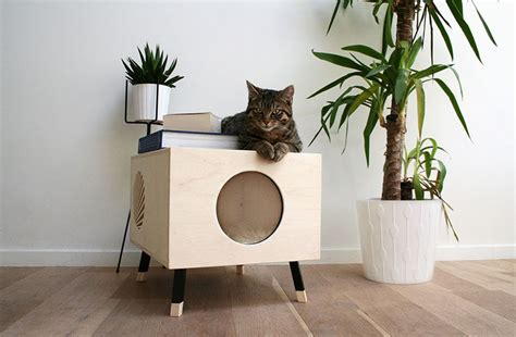 modern cat house this minimalist modern cat bed doubles as a functional
