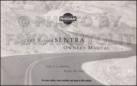 car engine repair manual 1999 nissan sentra on board diagnostic system 1999 nissan sentra owner s manual original