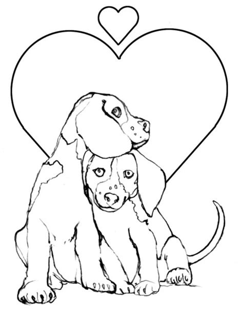 puppy valentine coloring pages pupply love printables