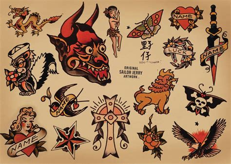 small sailor jerry tattoos sailor images designs