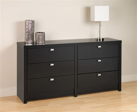 Black Dresser by Prepac Series 9 Designer Floating Black Headboard With