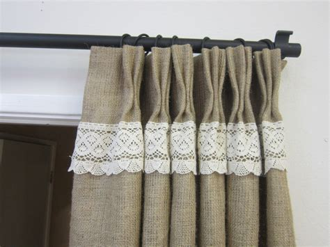 Burlap And Lace Curtains 84 Burlap Lace Curtains Burlap Curtains Burlap Pinch