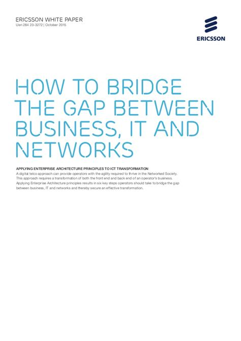 the gap bridge the gap between ambitions and taking books white paper how to bridge the gap between business it