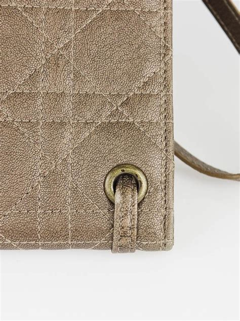 Vinyl Cannage D Clutch by Christian Gold Quilted Leather Cannage Clutch Bag