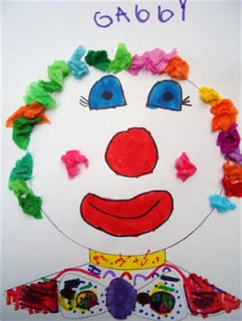 carnival crafts for to make draw create clowning around
