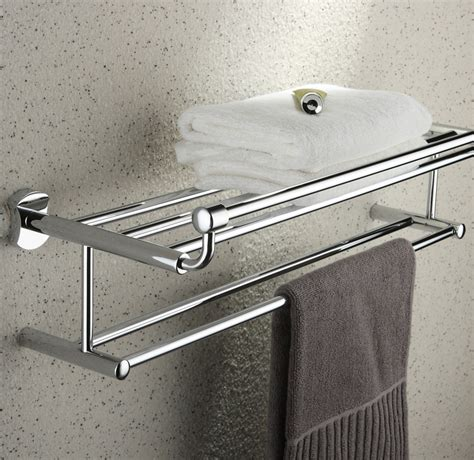 bathroom towel shelf chrome 24 inch bathroom shelf solid brass chrome finishd with