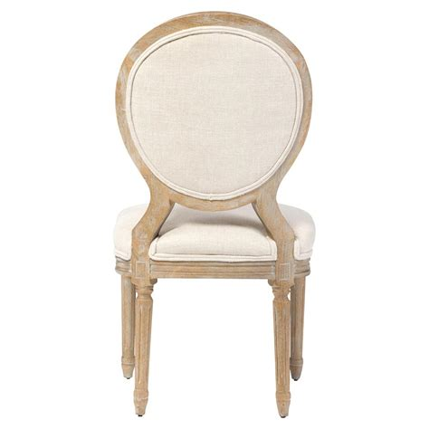 White Country Dining Chairs April Country White Linen Wood Dining Chair Pair Kathy Kuo Home