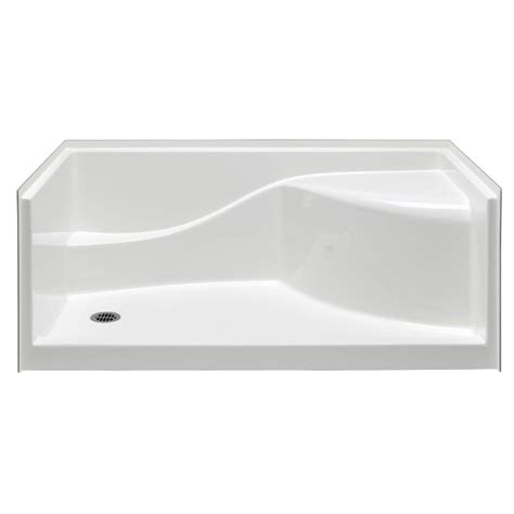 30 X 60 Shower Base by Aquatic Coronado 60 In X 30 In Single Threshold Gelcoat Shower Pan In White 6030spanl Wh The
