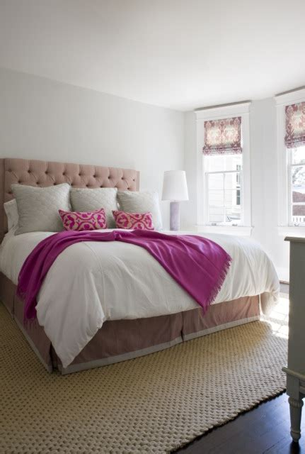 Pink Tufted Headboard Pink Tufted Headboard Contemporary Bedroom Sally Steponkus Interiors