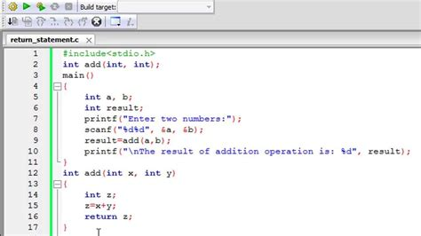 tutorial c programming c programming tutorial 45 functions part 3 return