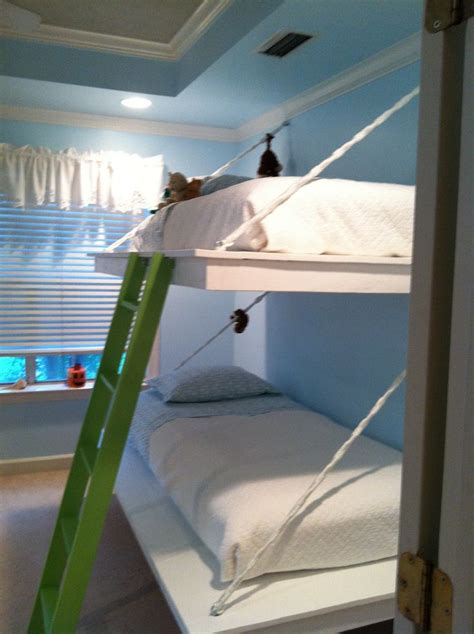 ana white floating bunk beds and desk diy projects 25 best bunk bed desk ideas on pinterest bunk bed with